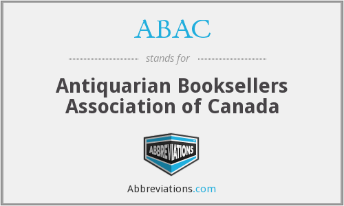 ABAC - Antiquarian Booksellers Association of Canada