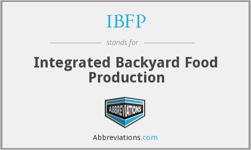 IBFP - Integrated Backyard Food Production