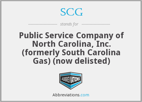 SCG - Public Service Company of North Carolina, Inc. (formerly South Carolina Gas) (now delisted)