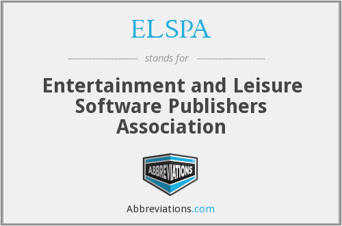 ELSPA - Entertainment and Leisure Software Publishers Association