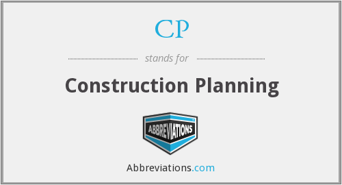 CP - Construction Planning