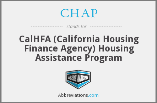 CHAP - CalHFA (California Housing Finance Agency) Housing Assistance Program