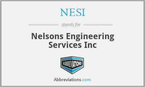 NESI - Nelsons Engineering Services Inc