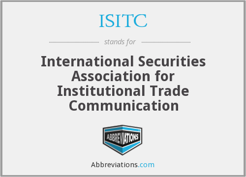 What does ISITC stand for?