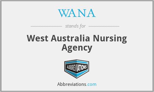 WANA - West Australia Nursing Agency