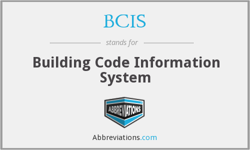 BCIS - Building Code Information System