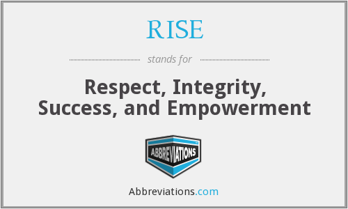 RISE - Respect, Integrity, Success, and Empowerment