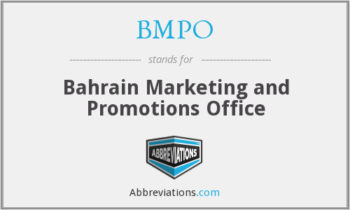BMPO - Bahrain Marketing and Promotions Office