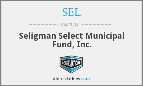 SEL - Seligman Select Municipal Fund, Inc.