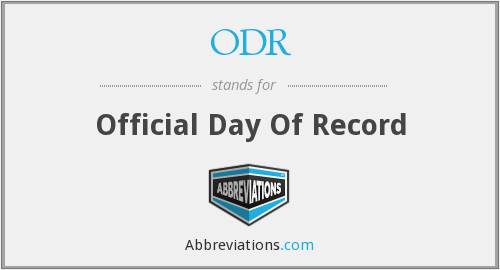 ODR - Official Day Of Record