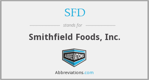 What does SFD stand for?