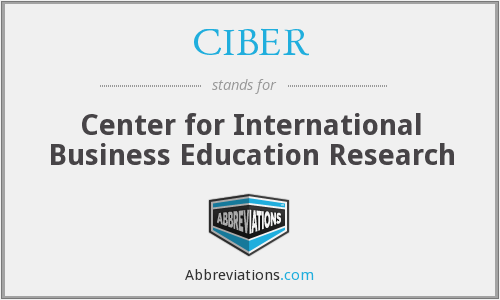 What does CIBER stand for?