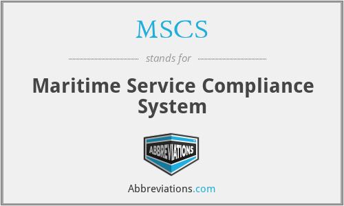 MSCS - Maritime Service Compliance System
