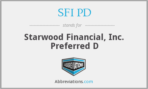 What does SFI PD stand for?