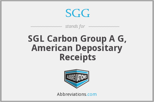 SGG - SGL Carbon Group A G, American Depositary Receipts