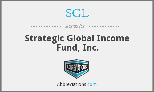 SGL - Strategic Global Income Fund, Inc.
