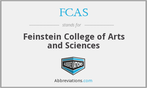 FCAS - Feinstein College of Arts and Sciences