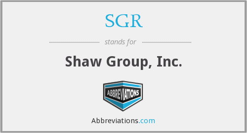 SGR - Shaw Group, Inc.