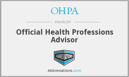 OHPA - Official Health Professions Advisor