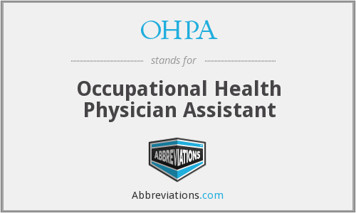 OHPA - Occupational Health Physician Assistant