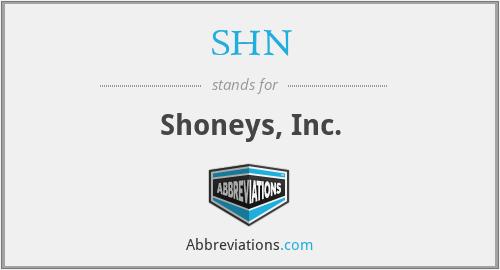 SHN - Shoneys, Inc.