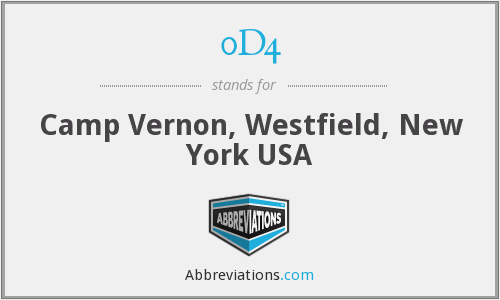 0D4 - Camp Vernon, Westfield, New York USA