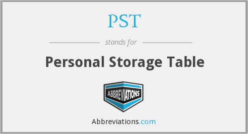 PST - Personal Storage Table