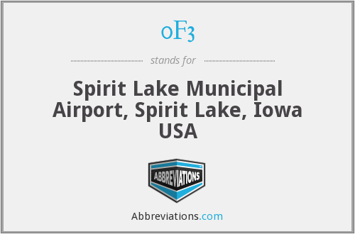 0F3 - Spirit Lake Municipal Airport, Spirit Lake, Iowa USA