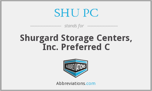 What does SHU PC stand for?