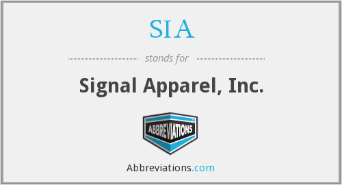 SIA - Signal Apparel, Inc.