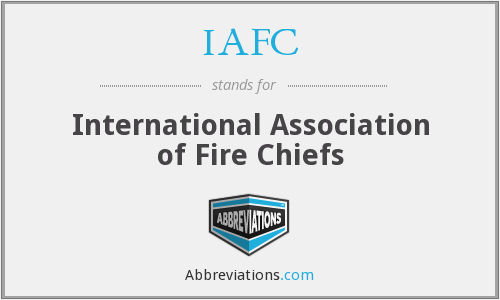 What does IAFC stand for?