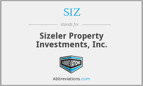 SIZ - Sizeler Property Investments, Inc.