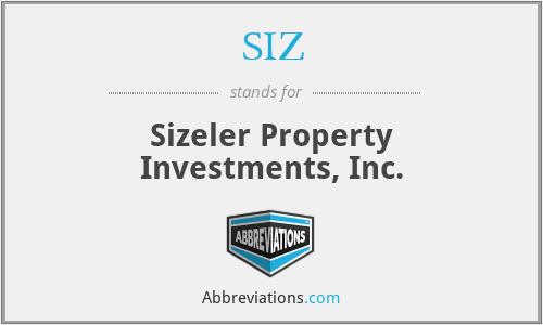 SIZ - Sizeler Property Investments, Inc.