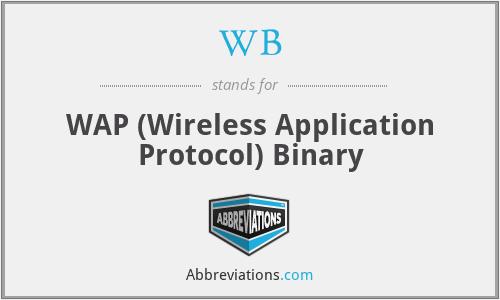 WB - WAP (Wireless Application Protocol) Binary