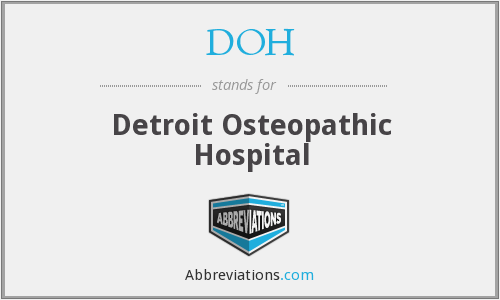 DOH - Detroit Osteopathic Hospital