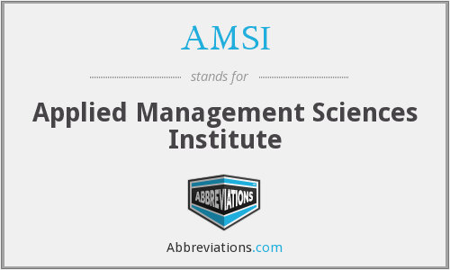 AMSI - Applied Management Sciences Institute