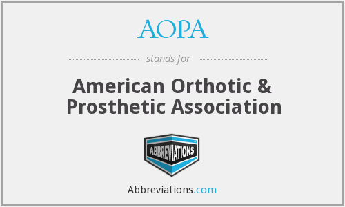 AOPA - American Orthotic & Prosthetic Association