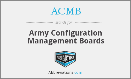 ACMB - Army Configuration Management Boards