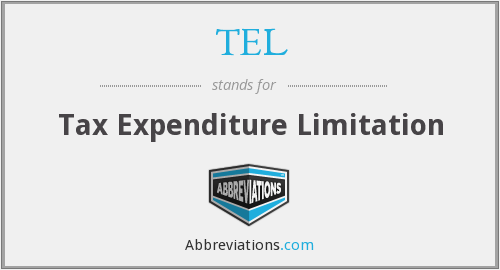 TEL - Tax Expenditure Limitation