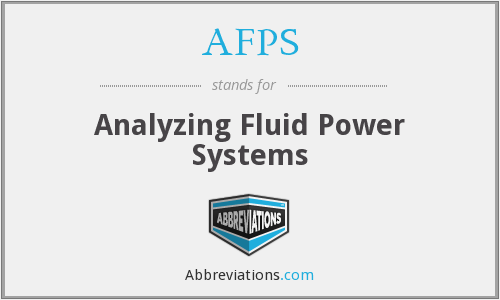 AFPS - Analyzing Fluid Power Systems