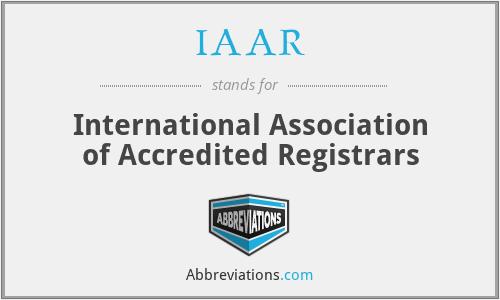 IAAR - International Association of Accredited Registrars