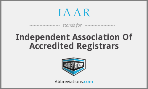 IAAR - Independent Association Of Accredited Registrars