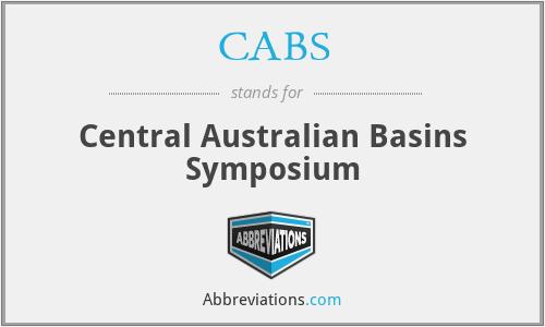 CABS - Central Australian Basins Symposium