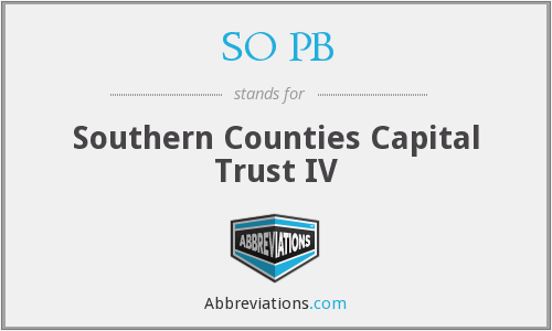 SO PB - Southern Counties Capital Trust IV