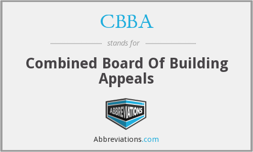 CBBA - Combined Board Of Building Appeals
