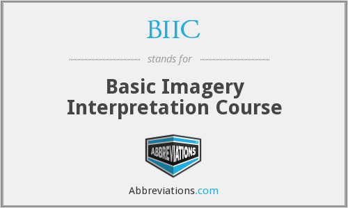 BIIC - Basic Imagery Interpretation Course