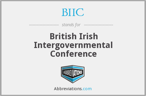 BIIC - British Irish Intergovernmental Conference