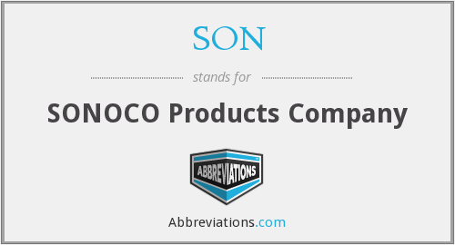 SON - SONOCO Products Company