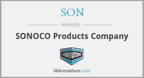 SON - SONOCO Products Company