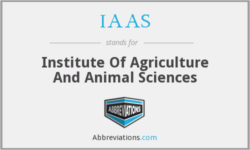 IAAS - Institute Of Agriculture And Animal Sciences